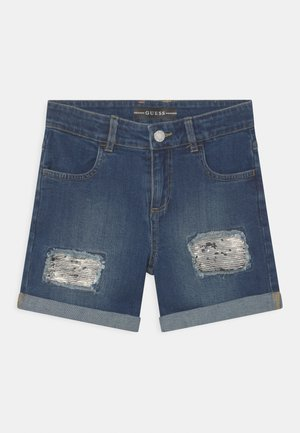 JUNIOR - Denim shorts - blue denim