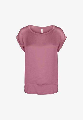Print T-shirt - dark pink rose