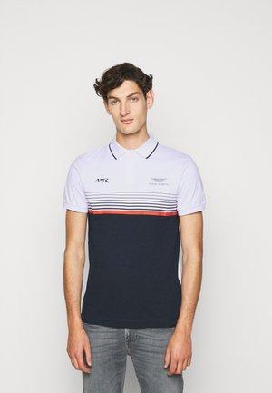 STRIPE BLOCK - Poloshirt - white/navy