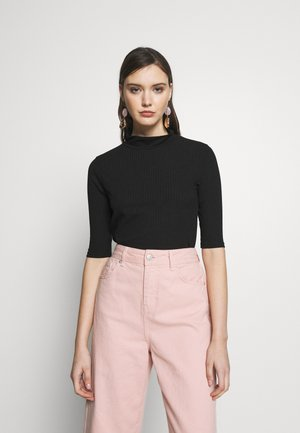 TURTLE NECK - T-shirt con stampa - black