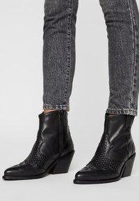 Bianco - Cowboy/biker ankle boot - black - 0