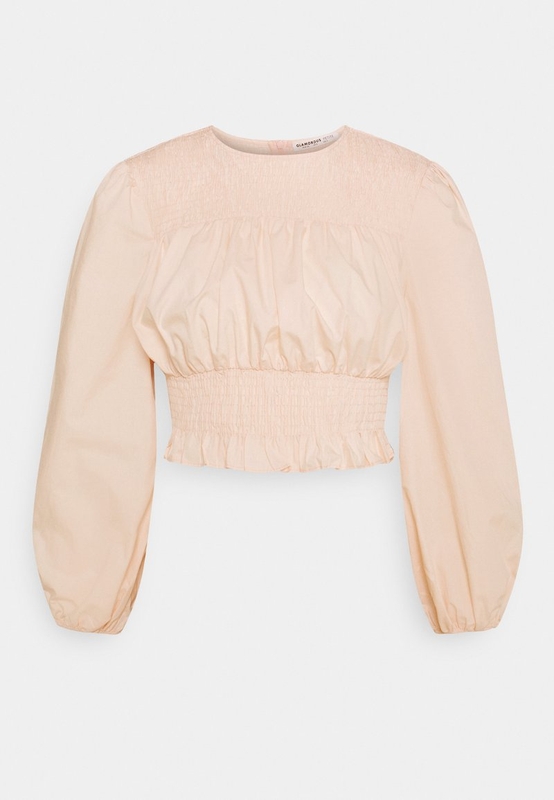 Glamorous Petite - BLOUSE WITH PUFF SLEEVES AND ROUND NECKLINE - Blouse - blush