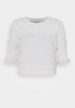 CASEY POINTELLE YOKE TEE - Print T-shirt - porcelain