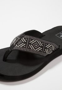 Reef - SPRING  - T-bar sandals - black/white - 2