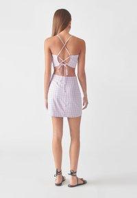 PULL&BEAR - A-line skirt - mauve - 2