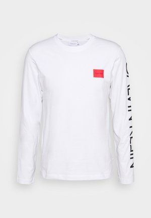 TEXT REVERSED LOGO - Longsleeve - white