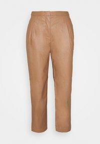 MARIE PLEAT PANTS - Trousers - camel