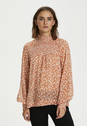 HAYDEN - Blouse - rust red mini flower