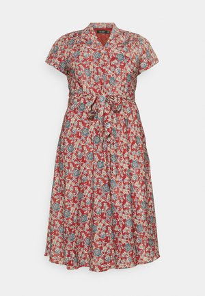 AMIT SHORT SLEEVE CASUAL DRESS - Day dress - red/multi