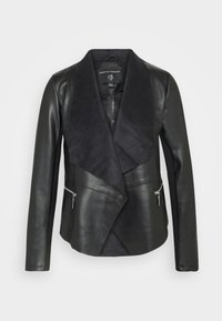Dorothy Perkins - WATERFALL JACKET - Faux leather jacket - black - 5