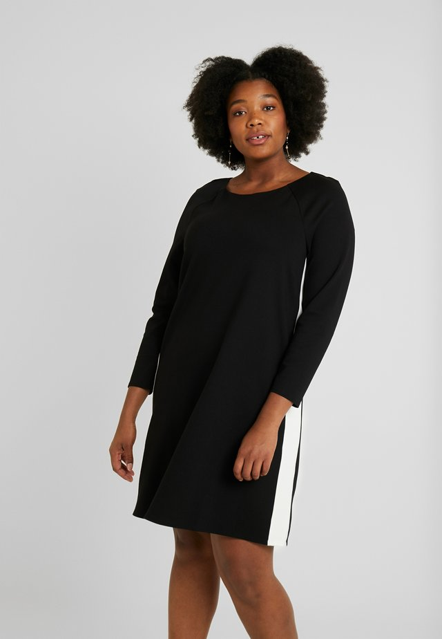 PANELLED DRESS - Trikoomekko - black