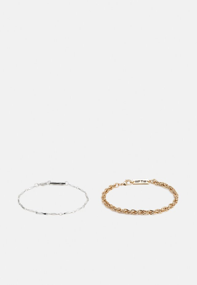 CHAIN BRACELET COMBO 2 PACK - Náramek - gold-coloured/silver-coloured