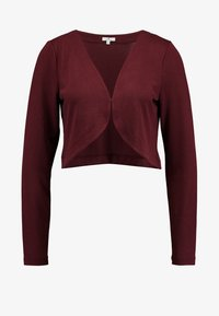TOM TAILOR - BOLERO - Strikjakke /Cardigans - deep burgundy red - 3