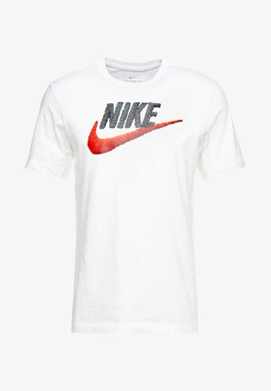 T-shirt imprimé - white/black/university red