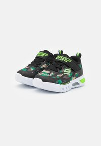 Skechers - FLEX GLOW - Trainers - black/lime - 1