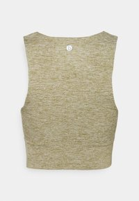 Cotton On Body - SO PEACHY TWIST FRONT VESTLETTE - Top - oregano marle