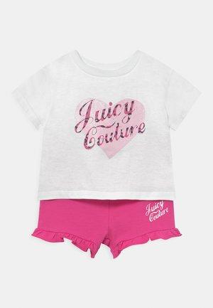 BABY HEART TEE SET - Print T-shirt - bright white