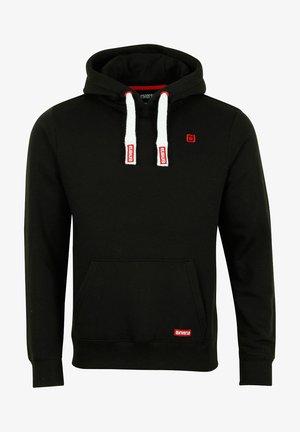 RIVLINUS - Hoodie - black-formula red