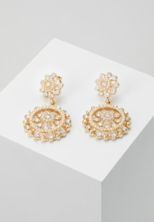 DISC DROP - Earrings - gold-coloured