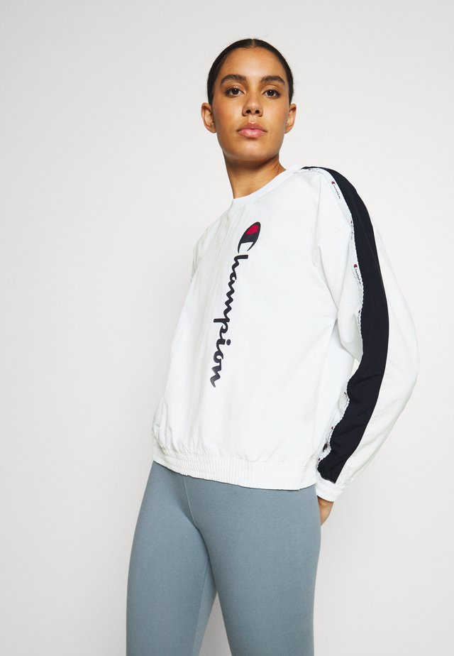 CREWNECK ROCHESTER - Maglietta a manica lunga - white/navy