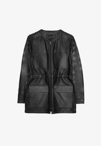 Uterqüe - 00665551 - Leather jacket - black - 4