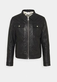 Selected Homme - SLHICONIC BLOUSON  - Leather jacket - black