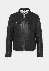 SLHICONIC BLOUSON  - Leather jacket - black