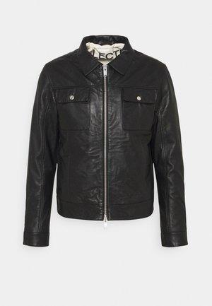 SLHICONIC BLOUSON  - Veste en cuir - black