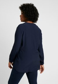 MY TRUE ME TOM TAILOR - BLOUSE SOLID WITH FOLDED HEM - Camicetta - sky captain blue - 2
