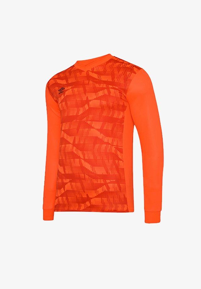 Long sleeved top - orangeschwarz