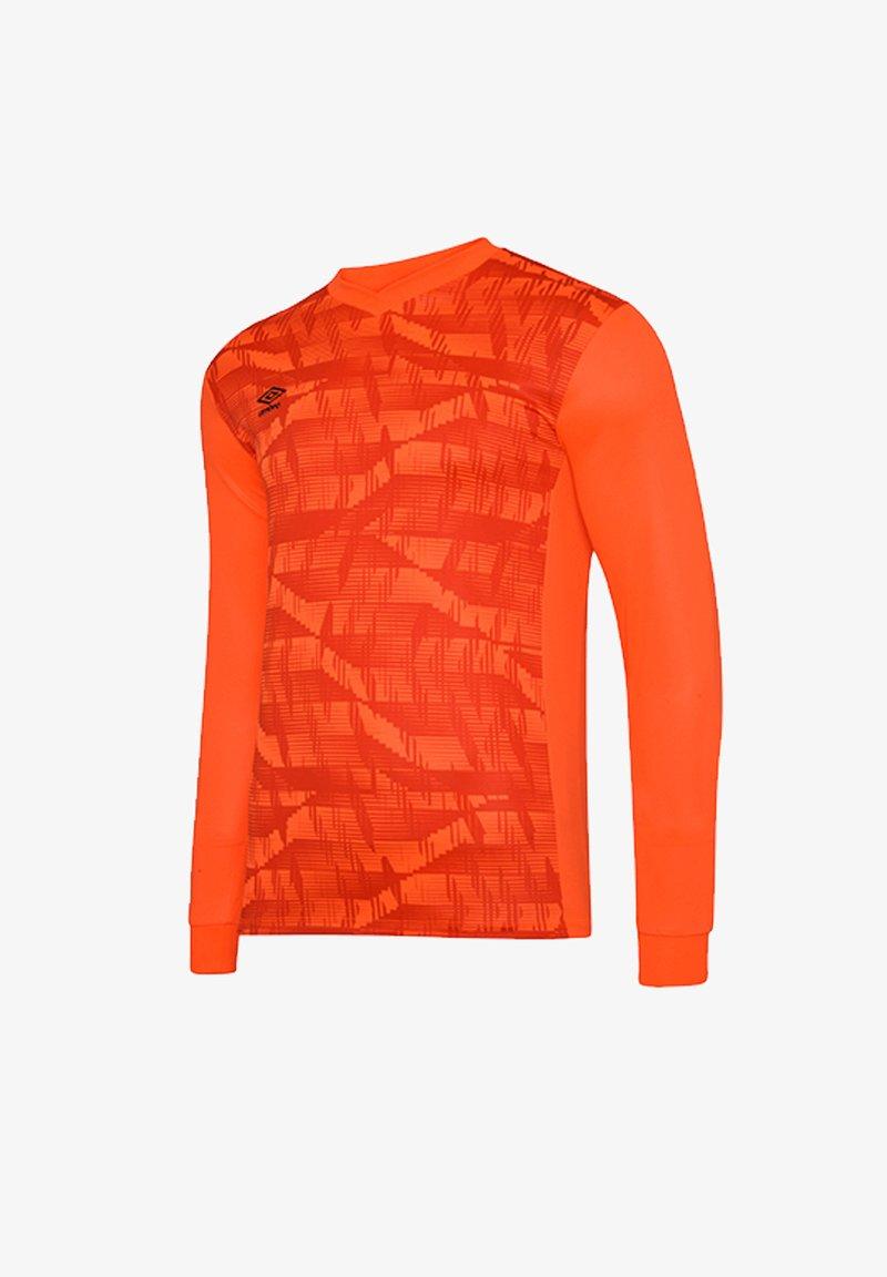 Umbro - Long sleeved top - orangeschwarz
