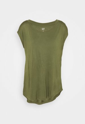 LUXE - Basic T-shirt - army jacket green