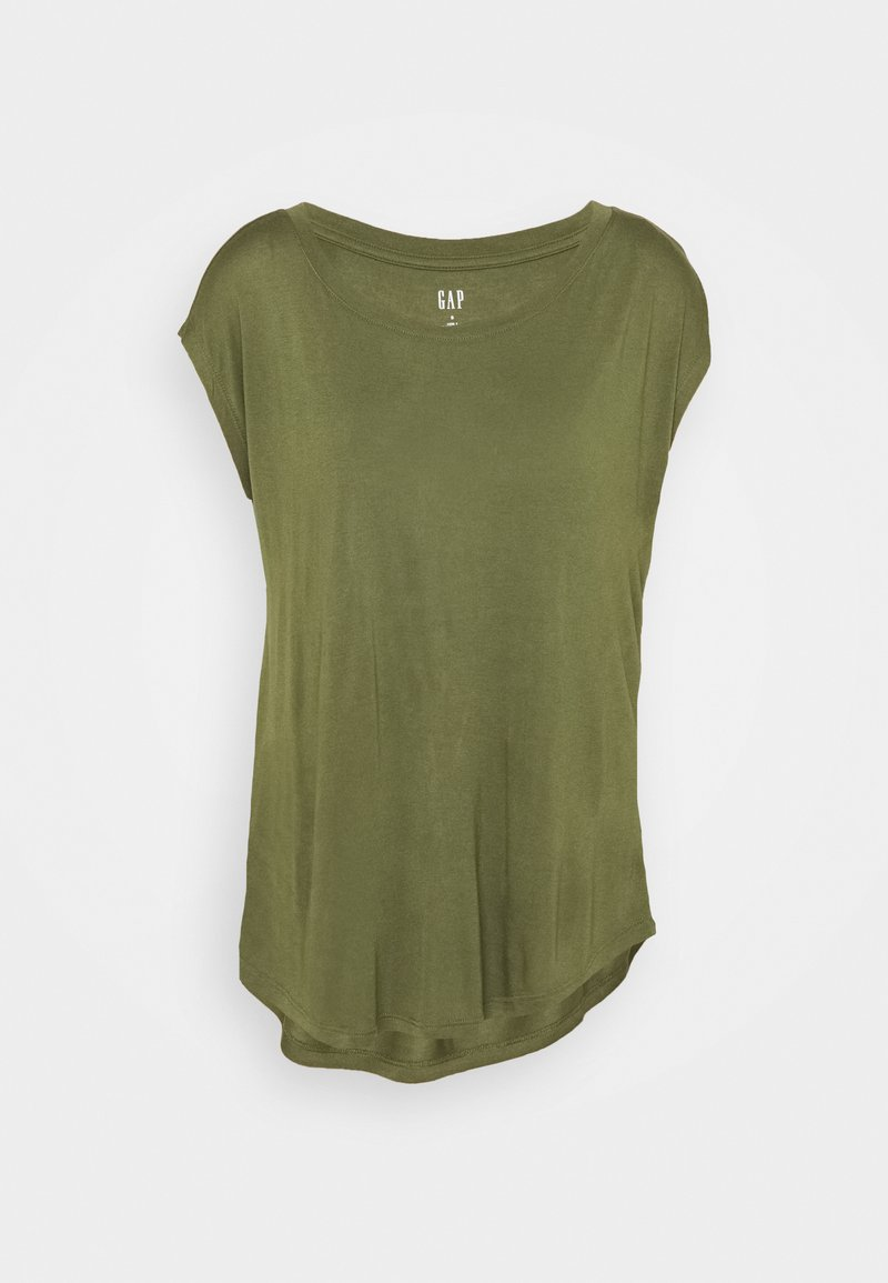 GAP - LUXE - Basic T-shirt - army jacket green