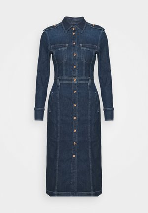 LUXE DRESS - Denim dress - mid indigo
