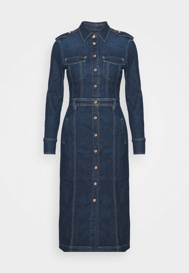 LUXE DRESS - Denim dress - mid indigo