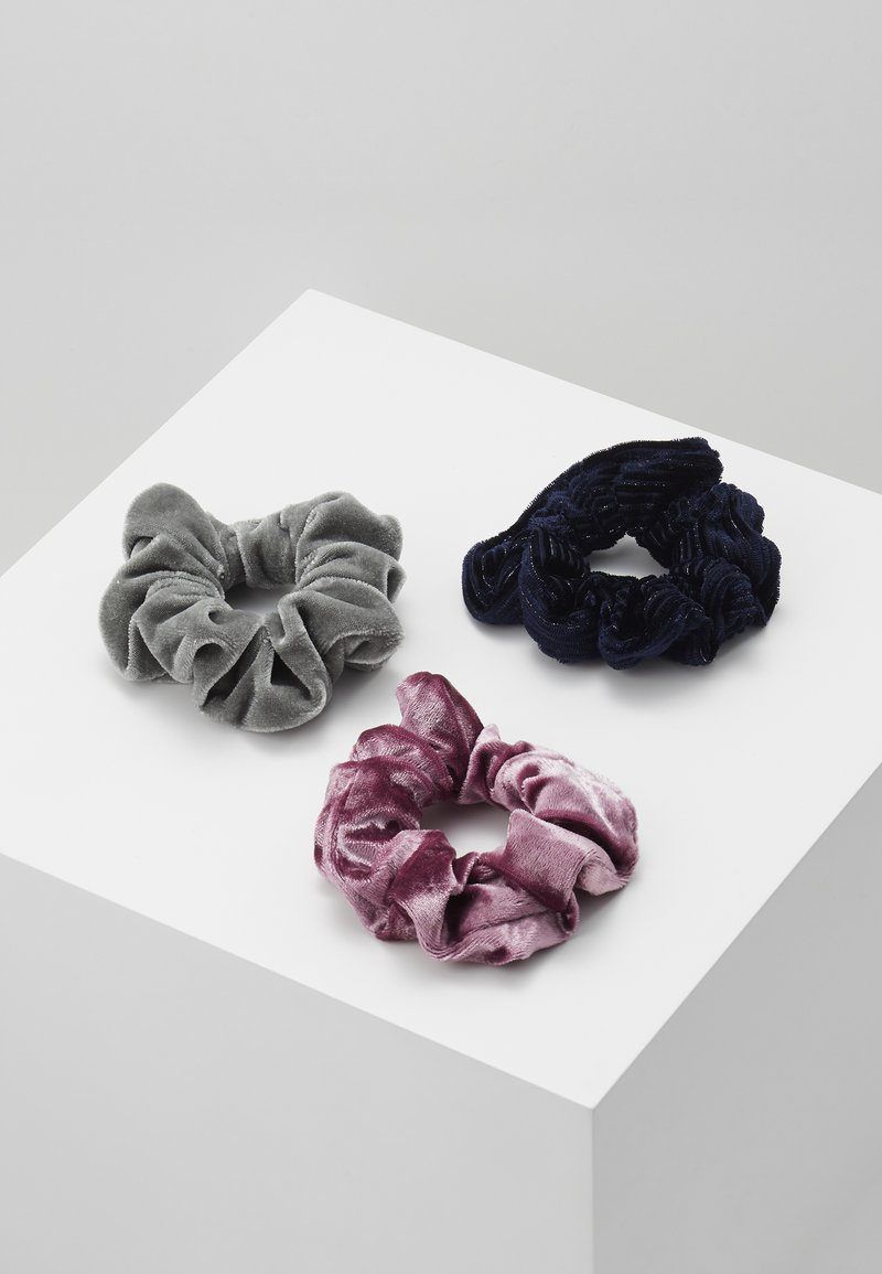 Abercrombie & Fitch - 3 PACK - Hair styling accessory - pink/black/grey
