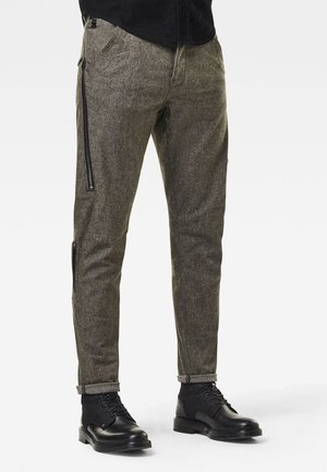 CITISHIELD 3D CARGO SLIM TAPERED - Cargo trousers - dk black/asfalt dobby