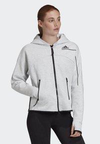 adidas Performance - ADIDAS Z.N.E. HOODIE - Zip-up hoodie - grey - 0
