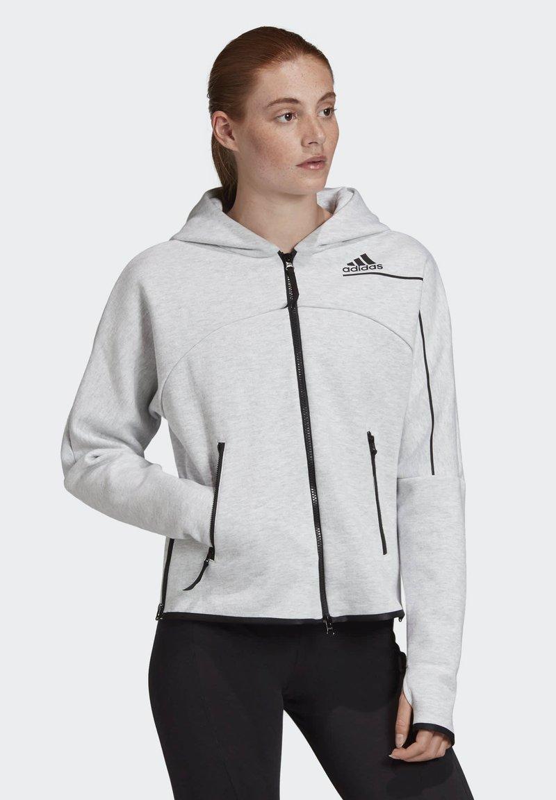 adidas Performance - ADIDAS Z.N.E. HOODIE - Sudadera con cremallera - grey