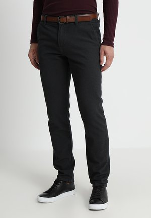 BASIC YARN DYE WITH BELT - Chinos - black