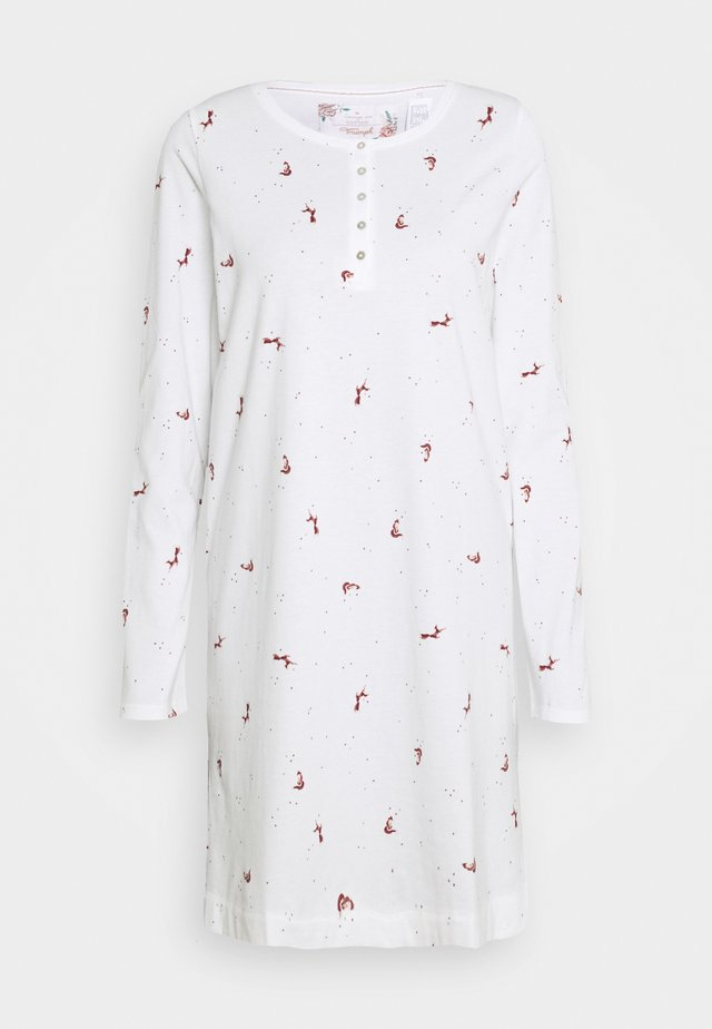 NIGHTDRESSES CHARACTER BUTTONS - Negligé - silk white