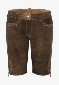 Spieth & Wensky - OXANA - Leather trousers - dark brown - 4