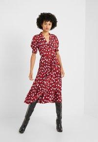 Diane von Furstenberg - EXCLUSIVE DRESS - Shirt dress - red leopard - 1
