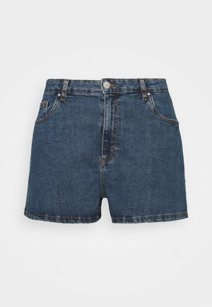 HIGH WAISTED - Shorts di jeans - coogee blue