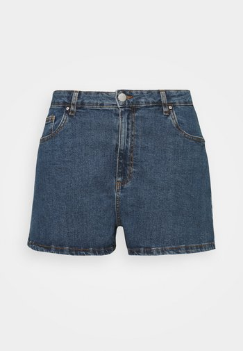 HIGH WAISTED - Denim shorts - coogee blue