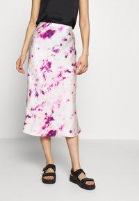 Bardot - KENDAL BIAS SKIRT - A-line skirt - purple - 0