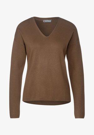 Softer in Unifarbe - Jumper - braun