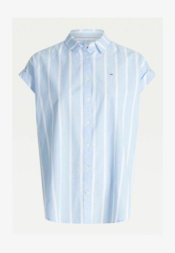 Button-down blouse - c3s light blue stripe