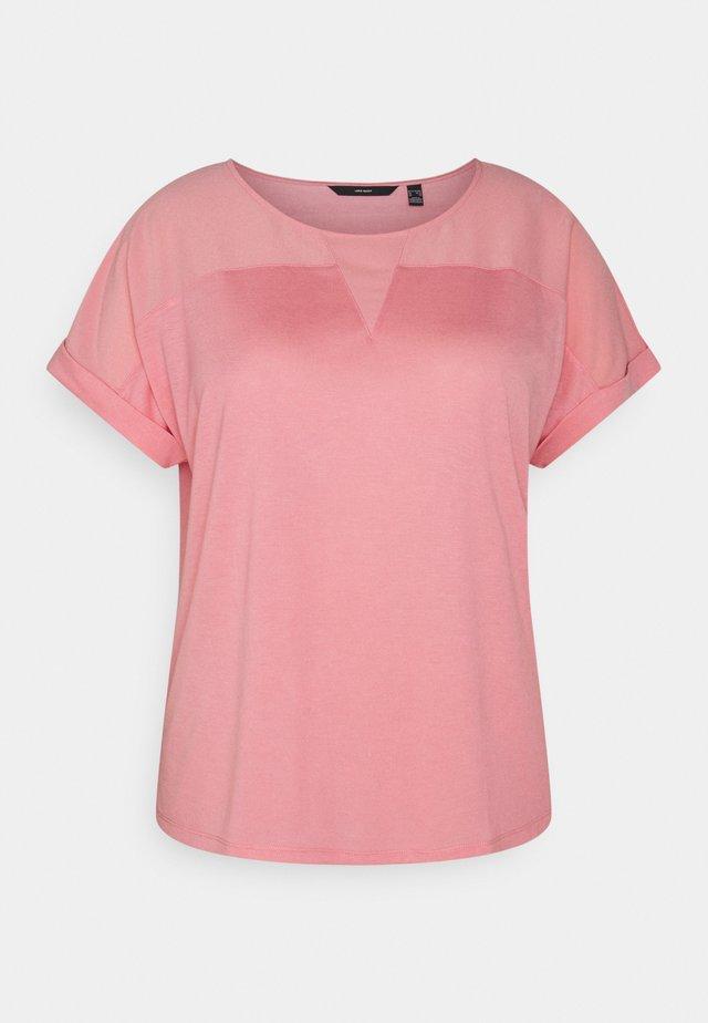 VMELLEN - Jednoduché triko - geranium pink