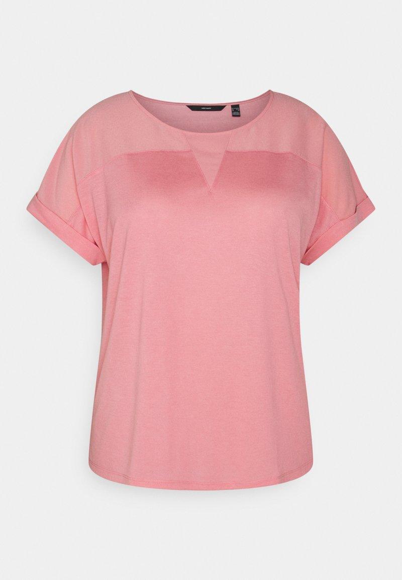 Vero Moda Curve - VMELLEN - Jednoduché triko - geranium pink